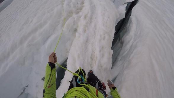 Ledeniški most čez razpoko