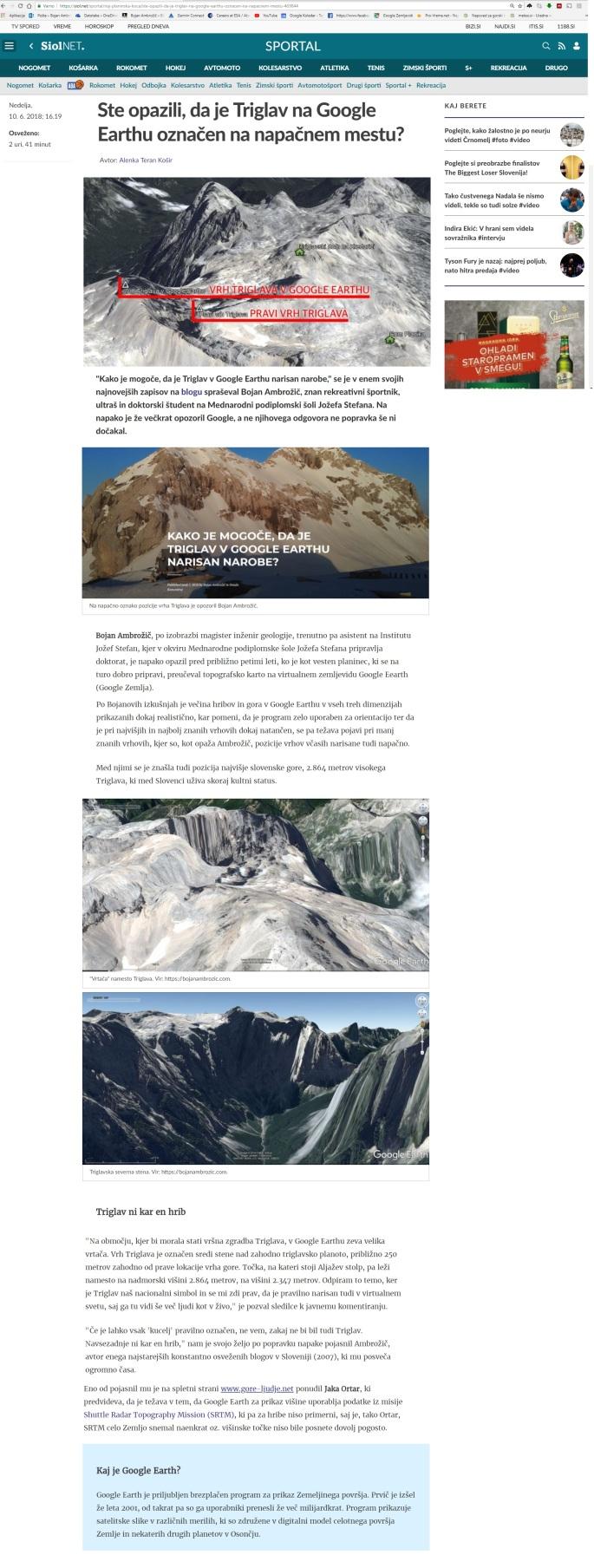 Google Earth Triglav Siol.net