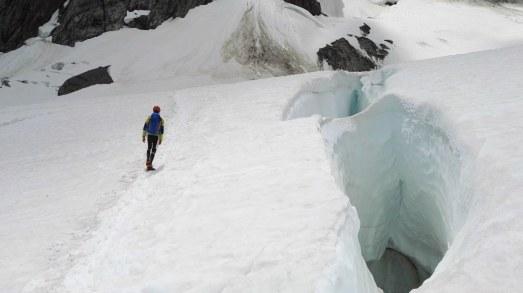 Zgornji del ledenika Miage