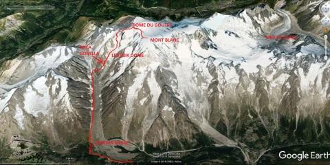 Masiv Mont Blanca z Italijanske strani