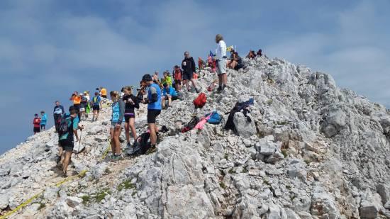 Cilj na vrhu Grintovca