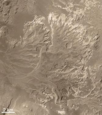 Izsušena rečna delta