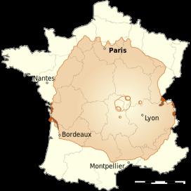 Velikost vulkana v primerjavi s Francijo