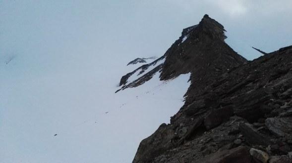 Začetek prečenja ledenika