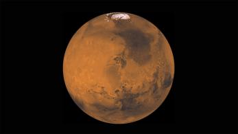 Mars z lepo vidno severno poalrno kapo