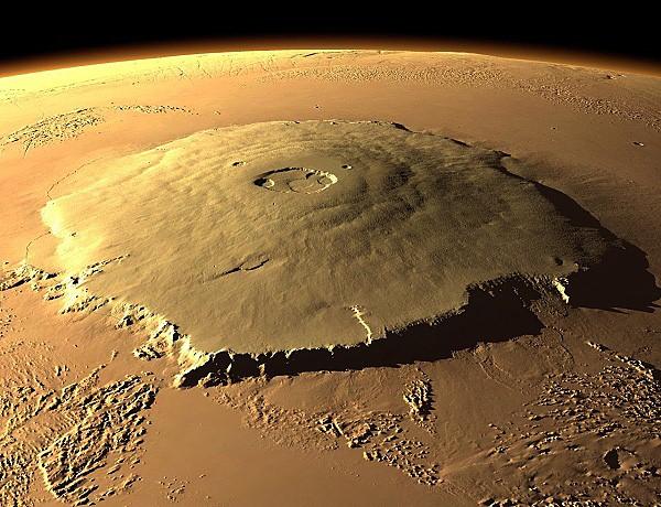 Olympus Mons je največji vulkan v Osončju