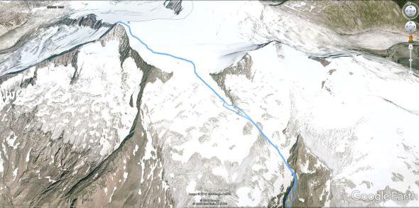 Pot čez ledenik Rainerkees