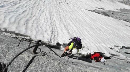 Vrh ledenika, začetek ferate