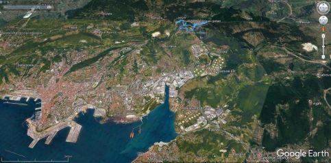 GLinščica leži zelo blizu Trsta