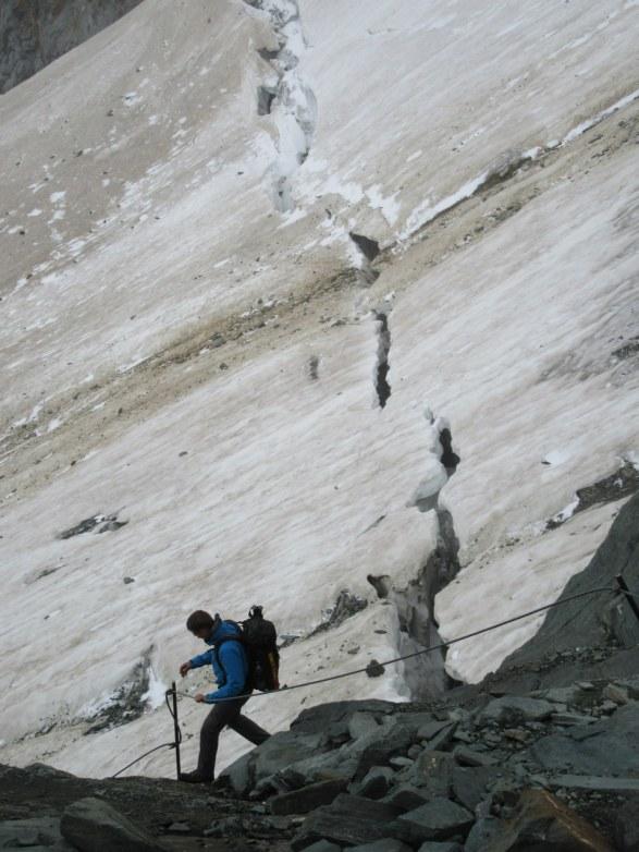 Razpoke na ledeniku Kodnitzkees