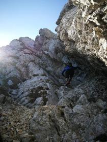Vzpon na Vrh nad Škrbino