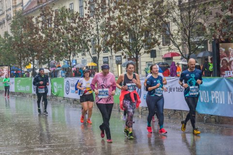 Močno je deževalo (Foto: Ljubljanski maraton)