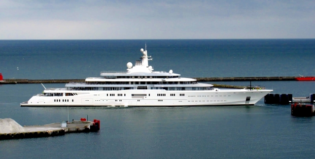 Luksuzna jahta Eclipse Ruskega milijarderja Romana Abramoviča