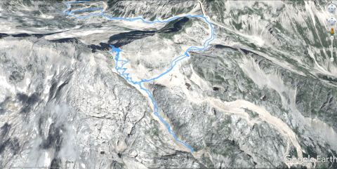 GPS sled Slovenske strani gore