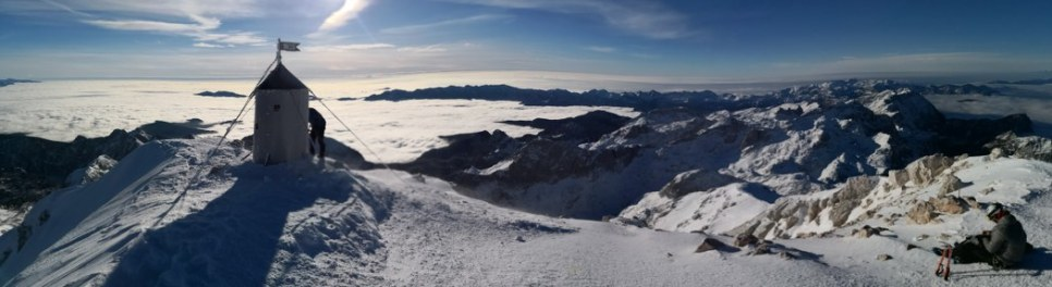 Panorama z vrha Triglava