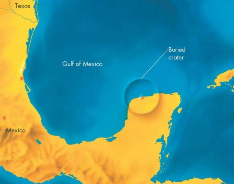 Lokacija kraterja v Mehiškem zalivu (foto: Flickr)