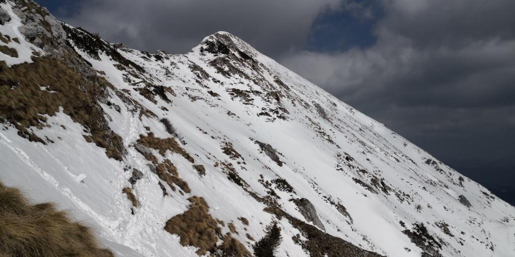 Pogled proti vrhu Begunjščice